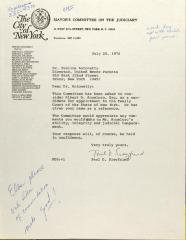 Letter from Paul D. Siegfried