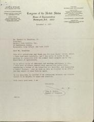 Letter to Wendell Beaubian Jr. from John Wydler