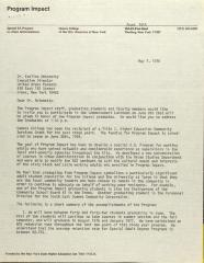 Letter from Beverly A. Smirni