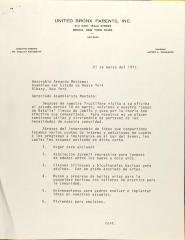 Letter to Armando Montano