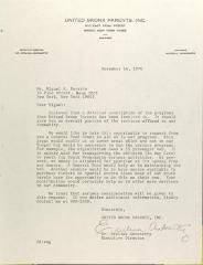 Letter to Miguel A. Rosario