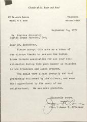 Letter from Rev. James T. O'Connor