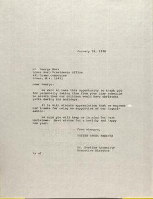 Letter to George Mora