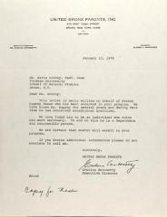 Letter to Maria Brehny