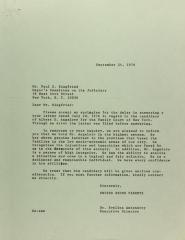 Letter to Paul D. Siegfried