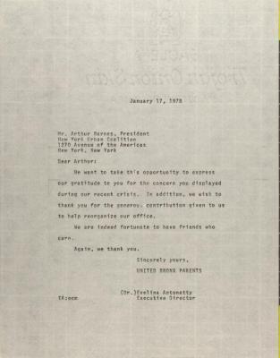 Letter to Arthur Barnes