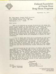 Letter to Luis Nunez from Frank Espada