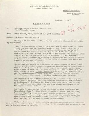 Letter from María Ramírez