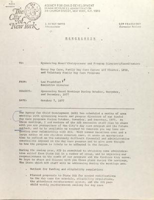 Memorandum from Lew Frankfort