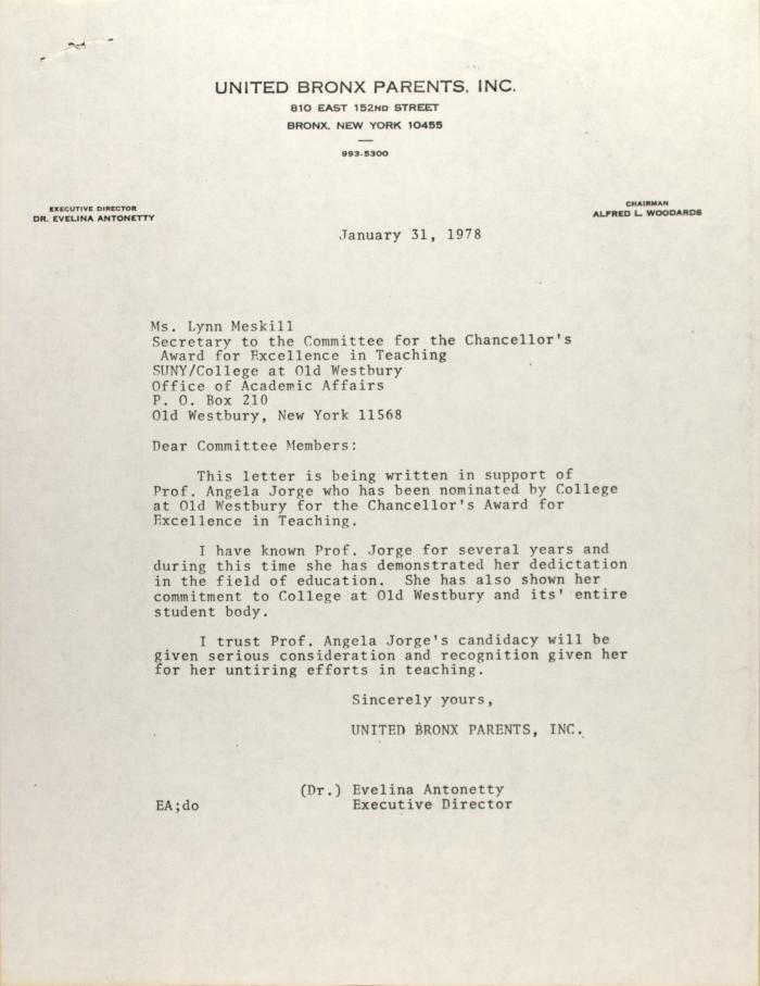 Letter to Lynn Meskill
