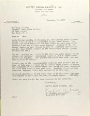 Letter to Douglas Ades