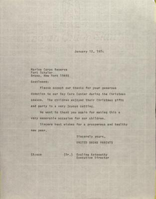 Letter to the Marine Corps Reserve
