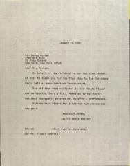 Letter to Betsy Parker