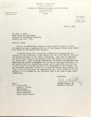 Letter to Mary L. Reiss from Alfredo Mathew Jr