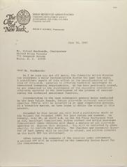 Letter to Alfred Woodards