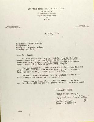 Letter to Robert Garcia