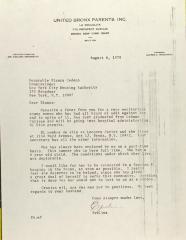 Letter to Blanca Cedeno