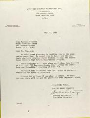 Letter to Iris Marrero Famania