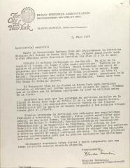 Letter from Blanch Bernstein