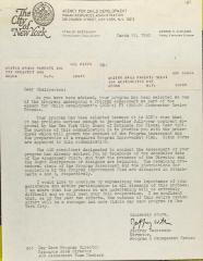 Letter from Jeffrey Weinstein