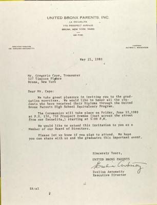 Letter to Gregorio Capo