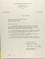 Letter to Gilberto Gerena Valentin
