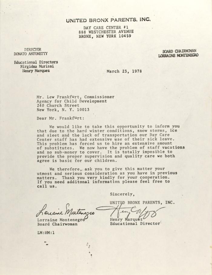 Letter to Lew Frankfurt
