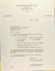 Letter to Ken Ribero
