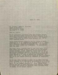 Letter to Stephen Aiello