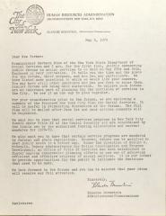 Letter from Blanche Bernstein