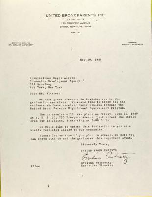 Letter to Roger Alvarez