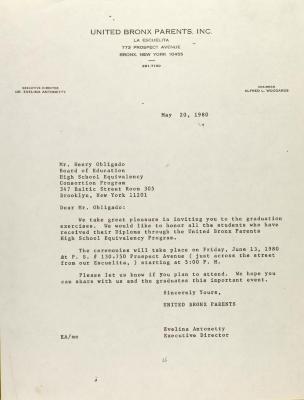 Letter to Henry Obligado