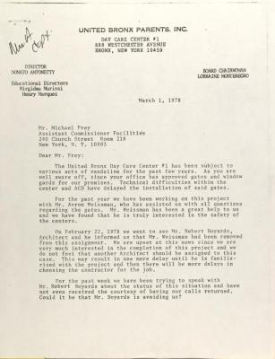 Letter to Michael Frey