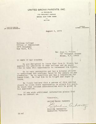 Letter to Boricua College