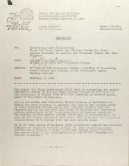 Memorandum from Jeffery Weinstein