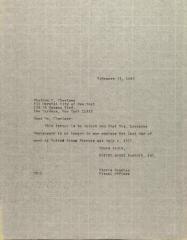 Letter to Sheldon C. Chevlawe