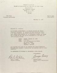 Letter from Raul G. Lahee and Enrique Duran