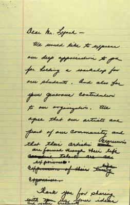 Letter to Charles Lynch