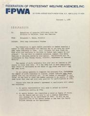Memorandum from Elizabeth C. Beine
