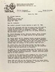 Letter from the Agency for Child Development