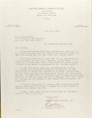 Correspondence to Herman Badillo