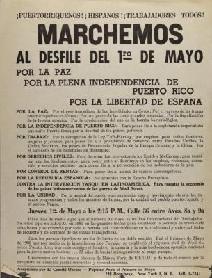 Marchemos Al Desfile Del 1st of Mayo / We March at the May 1st Parade