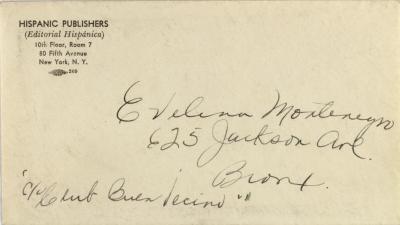 Correspondence from Hispanic Publishers