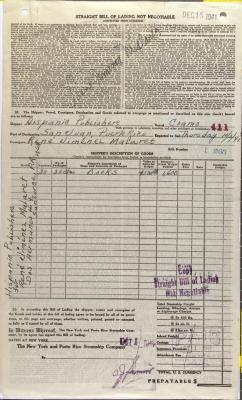 New York and Porto Rico Steamship Company order statement