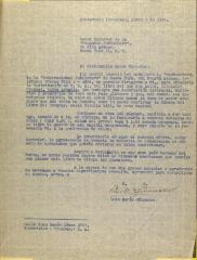 Correspondence from Luis María Guinasso