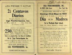 Liga Puertoriqueña's Dia de Las Madres / Mother's Day program
