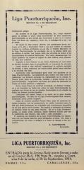 Liga Puertorriqueña brochure