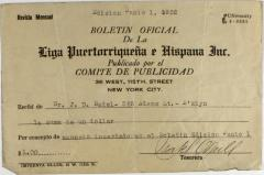 Advertising payment to Liga Puertorriqueña E Hispana