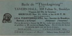 "Baile de ""Thanksgiving"""
