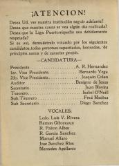 Candidates for Office in Liga Puertorriqueña
